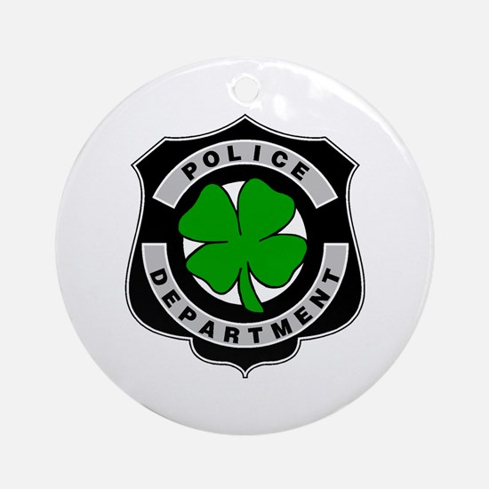 Irish Police Officers Ornament (Round)