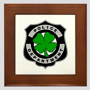 Irish Police Officers Framed Tile