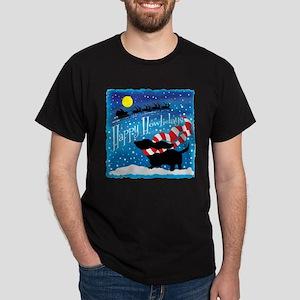Basset Scarf Dark T-Shirt
