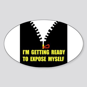 READY OR NOT ! Oval Sticker
