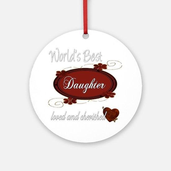 Cherished Daughter Ornament (Round)