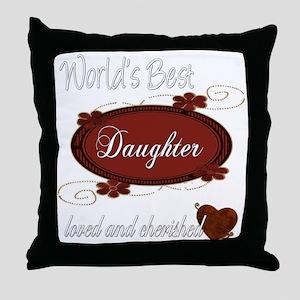 Cherished Daughter Throw Pillow