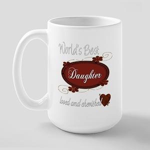 Cherished Daughter Large Mug