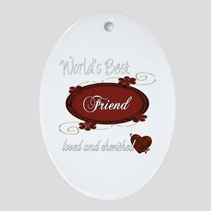 Cherished Friend Oval Ornament