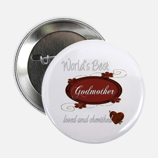 """Cherished Godmother 2.25"""" Button"""