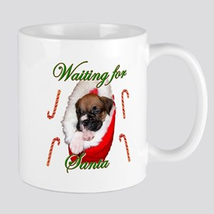 Waiting for Santa Boxer Puppy Mug