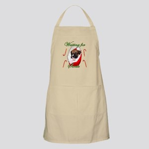 Waiting for Santa Boxer Puppy Apron