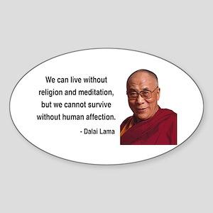 Dalai Lama 21 Oval Sticker