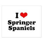 I Love Springer Spaniels Small Poster
