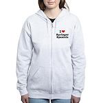 I Love Springer Spaniels Women's Zip Hoodie