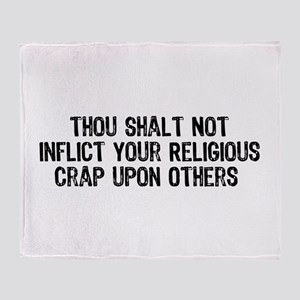 No Religious Crap Throw Blanket
