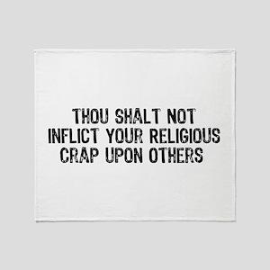 No Religious Crap Throw Blanket