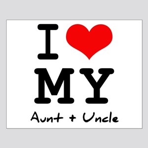I love my aunt + uncle Small Poster