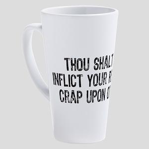 No Religious Crap 17 oz Latte Mug