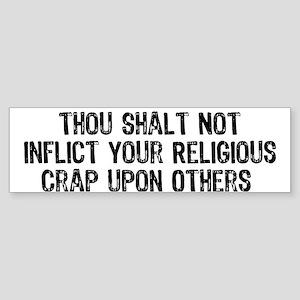 No Religious Crap Sticker (Bumper)