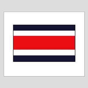 Costa Rican Flag Small Poster