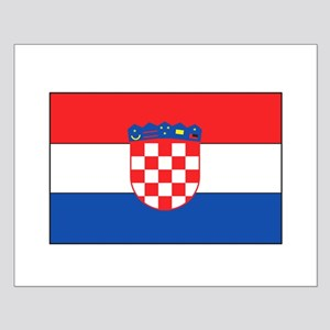 Croatian Flag Small Poster