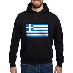 Greek Flag Hoodie (dark)