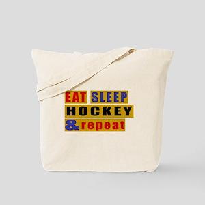 Eat Sleep Hockey And Repeat Tote Bag