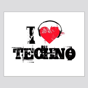 I love techno Small Poster