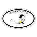 Zack Cross Country Oval Sticker
