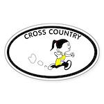 Julie Cross Country Oval Sticker