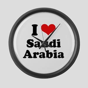 I love Saudi Arabia Large Wall Clock