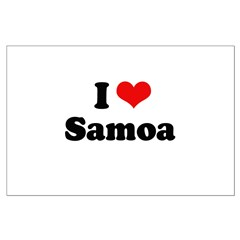 I love Samoa Posters