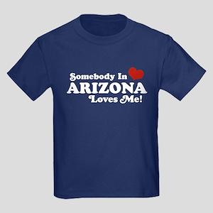 Somebody in Arizona Loves me Kids Dark T-Shirt
