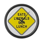 """""""Eats Liberals for Lunch"""" Large Wall Clo"""