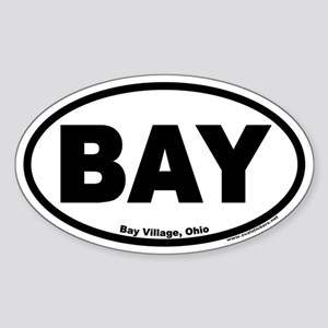 Bay Village Ohio BAY Euro Oval Sticker