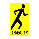 Shadow Runner 26.2 Rectangle Sticker