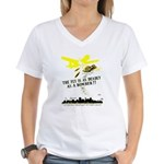 The Fly is as Deadly Women's V-Neck T-Shirt