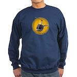 Helicopter Flying Aviator Sweatshirt (dark)