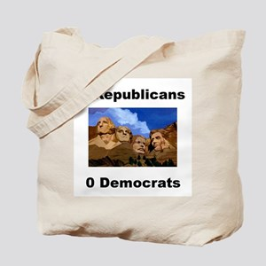 3 Republicans 0 Democrats Tote Bag