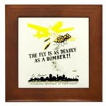 The Fly is as Deadly Framed Tile