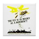 The Fly is as Deadly Tile Coaster