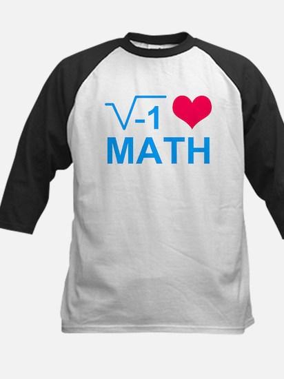 I Love Math T Shirt Baseball Jersey
