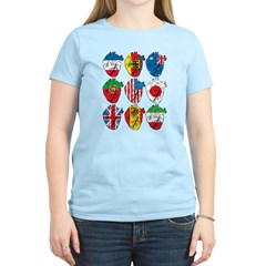 Heart Flags Women's Light T-Shirt