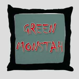 Green Monstah Throw Pillow