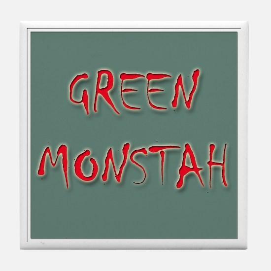Green Monstah Tile Coaster