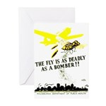 The Fly is as Deadly Greeting Cards (Pk of 20)