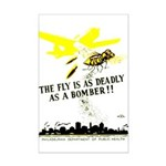 The Fly is as Deadly Mini Poster Print