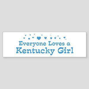 Loves Kentucky Girl Bumper Sticker