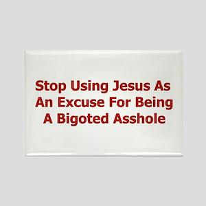 No Jesus Excuses Rectangle Magnet