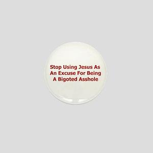 No Jesus Excuses Mini Button
