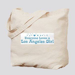 Loves Los Angeles Girl Tote Bag