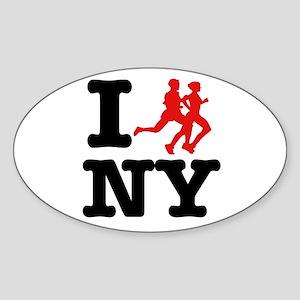 I run New York Oval Sticker