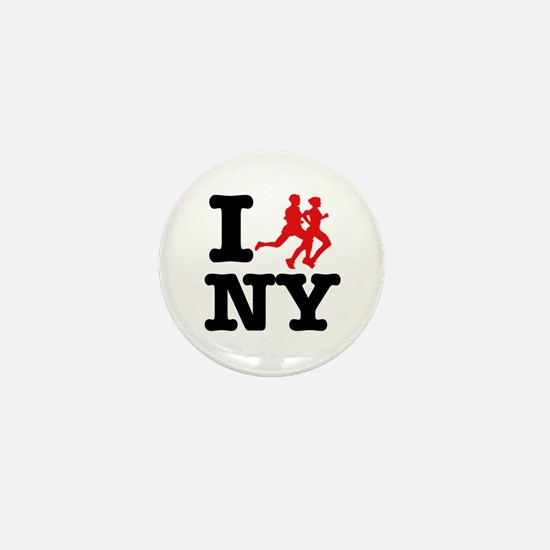 I run New York Mini Button