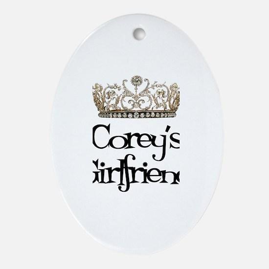 Corey's Girlfriend Oval Ornament
